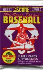 Score 1991 Major League Baseball Series 2 trading cards