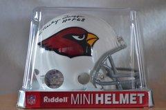 Hidden Treasures Autographed Mini Helmet Charley Trippi Cardinals