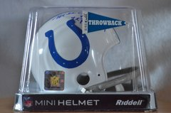 Hidden Treasures Autographed Mini Helmet Mike Curtis Colts