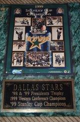 NHL Mounted Keepsake 1999 Stanley Cup Champions Dallas Stars