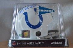 Hidden Treasures Autographed Mini Helmet Lydell Mitchell Colts
