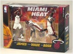 McFarlane NBA 3-pack Miami Heat James Wade Bosh