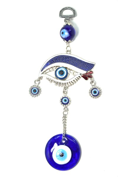 Turkish Blue Evil Eye Nazar With An Blue Eye Hanging
