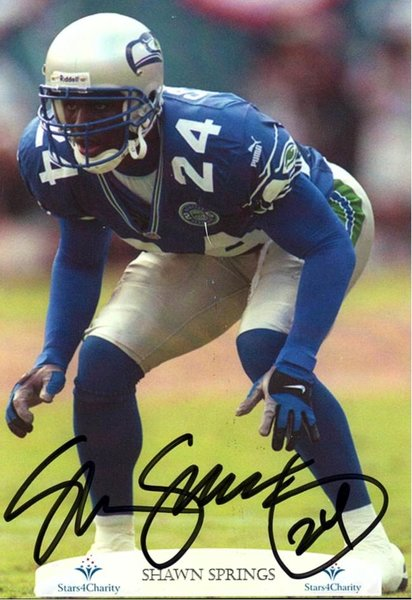 Shawn Springs - 5x7 Autograph