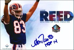 Andre Reed - 5x7 Autograph