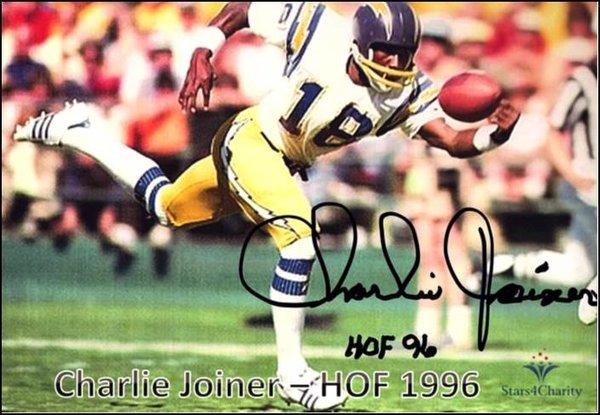 Charlie Joiner - 5x7 Autograph