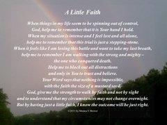 A Little Faith Postcard