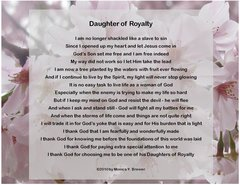 Daughter of Royalty Postcard