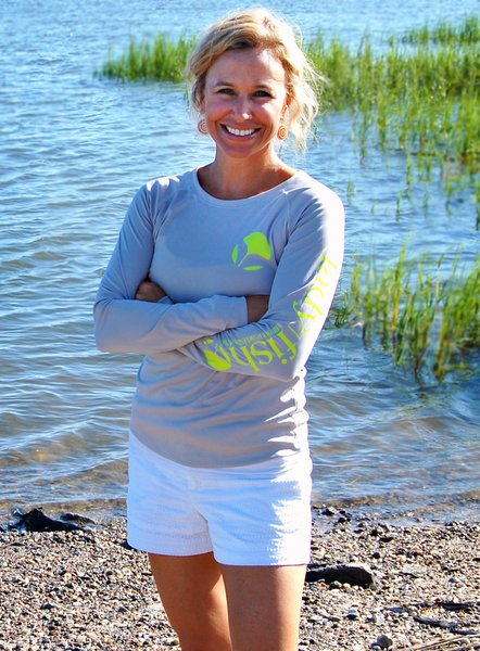 Ladyfish upf long sleeve shirt sun protection women 39 s for Saltwater fishing clothes