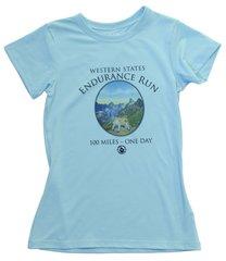 *WOMEN'S SHORT SLEEVE MOUNTAIN LION-BLUE