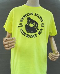 *WESTERN STATES 100 MILES MEN'S CREW SHIRT S/S - SAFETY GREEN