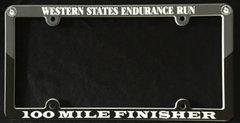 Finisher License Plate Plastic (Two-Toned)