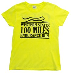 *(SAFETY GREEN) WESTERN STATES 100 MILES CREW WOMEN'S S/S-SAFETY GREEN