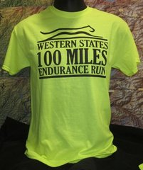*(SAFETY GREEN) WESTERN STATES 100 MILES CREW MEN'S S/S-SAFETY GREEN