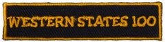 *WSER Small Black Rectangle Patch