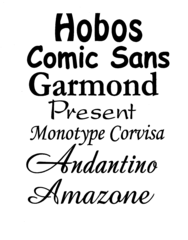 Lettering/Font styles