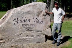 Stone EXAMPLES- Boulders/other works of art