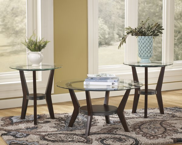 ashley furniture fantell series 3 piece coffee and end table set