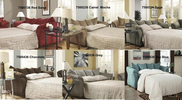 Ashley Furniture Darcy Sleeper Sofa Full size 6 colors to