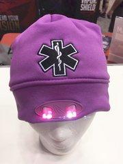 Purple EMS LED Beanie with Ponytail hole