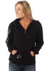 Full Zip Hoodie - Black or Charcoal