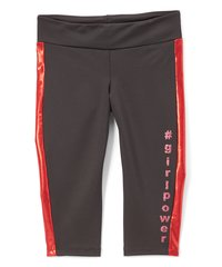 #girlpower Black and Red Capri