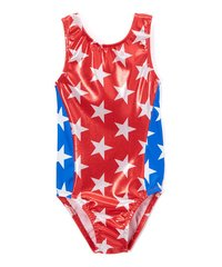 Team USA Red Star Sparkle Perfect Fit Leotard
