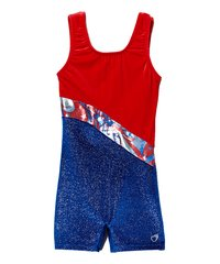USA Glitter Stretch Velvet Biketard