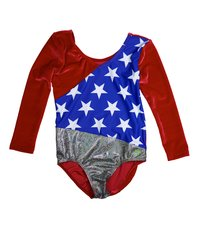 1984 USA WIN VELVET 3/4 SLEEVE LEOTARD