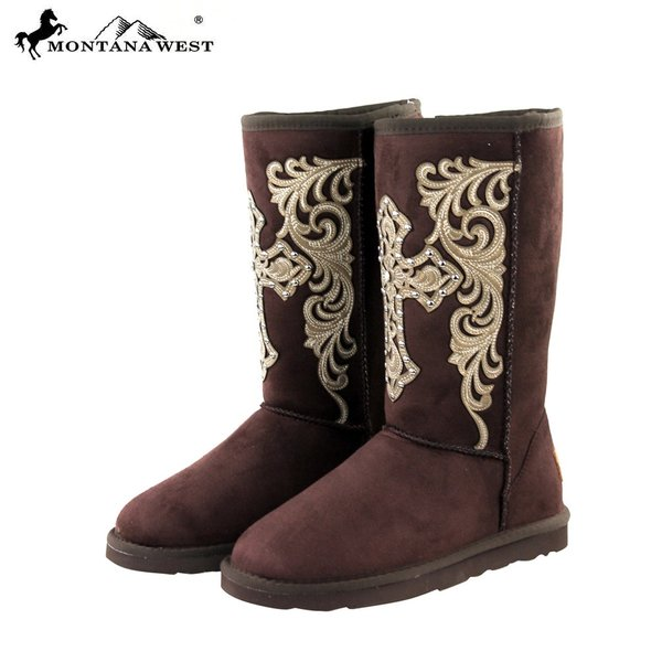 Montana West Coffee Spiritual Western Boots | Montana West