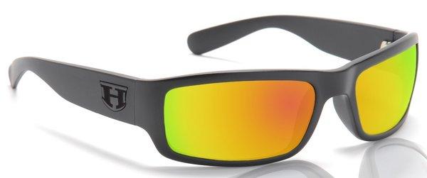 8fe1e77670 Hoven Highway BLACK ON BLACK   FIRE CHROME POL Impact Resistant Lens  Sunglasses