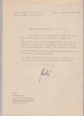Roland Freisler signed letter