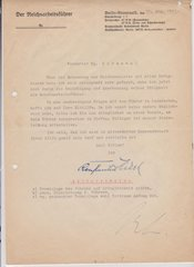 Bormann / Hierl signed letter