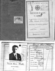 """Passport issued to a Jewish man with red """"J"""""""
