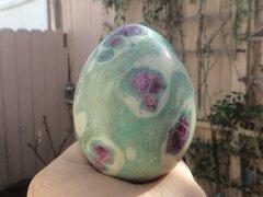 Ruby Fuchsite Egg
