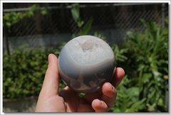 Agate and Quartz Sphere