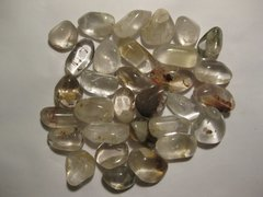 1 Lb. Included Quartz Tumbled Stones