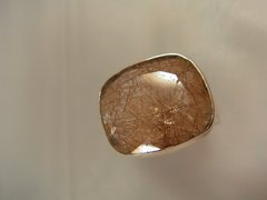 Rutilated Quartz Ring Size 9 Sterling Silver