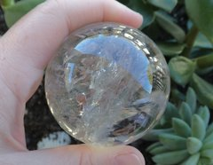 Clear Quartz Sphere with Rainbows