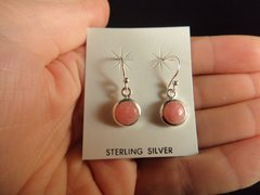 Rhodocrosite Earrings Sterling Silver