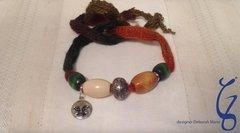 Yarn & Moon Wrap Around Bracelet