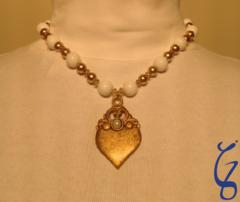 Pearl Eye Gold Vintage Pendent