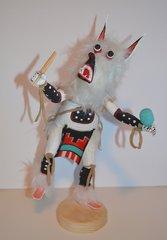 Kachina Doll - White Wolf - 13 Inch Tall - 45% OFF