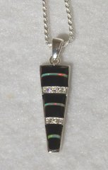Onyx with Opal Jewelry - Pendant Only