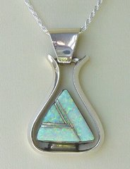 Opal Inlay Pendant | Free Form Design 50% OFF