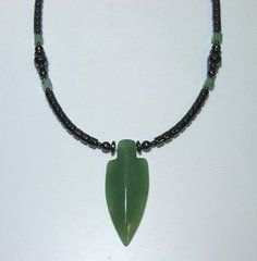 Native American Jewelry | Arrowhead Necklace with Aventurine