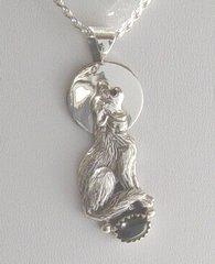 Wolf jewelry with Onyx
