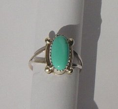 Turquoise Sterling Silver Ring Bead Design