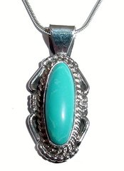 Turquoise Jewelry - Oblong Pendant