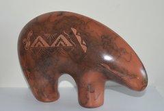 Horse Hair Red Ceramic Bear - 9 Inch - 40% OFF